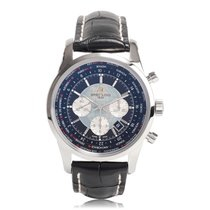 Breitling Transocean Unitime Steel Automatic Mens Chronograph...