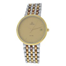 Omega Men's  Deville 7220.11.00 Steel 18K Yellow Gold Date