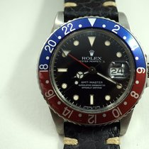 Rolex GMT steel Pepsi bezel w/spider dial quick set c.1984