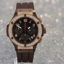 Hublot Big Bang Cappuccino Chronograph 41mm Diamond Bezel