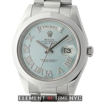 Rolex Day-Date II President Platinum Ice Blue Roman Diamond Dial