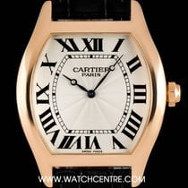 Cartier 18k Rose Gold Silver Roman Dial Tortue XL Gents...