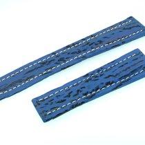 Breitling Band 19mm Hai Blau Blue Shark Strap Correa Für...