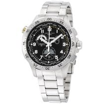 Hamilton Worldtimer Black Dial Stainless Steel Men's Watch...