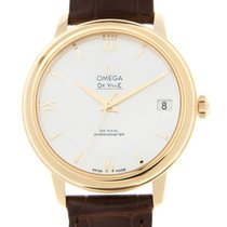 Omega De Ville 18 K Yellow Gold White Automatic 424.53.33.20.0...