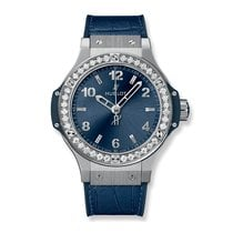 Hublot Big Bang Steel Blue Diamonds 38mm Ref 361.SX.7170.LR.1204