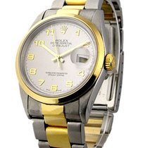 Rolex Used 16263 Mens 2-Tone Datejust with Oyster Bracelet...