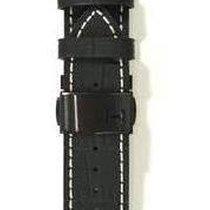 Hamilton Railroad Black Lederband mit Schliesse 22/20 mm...