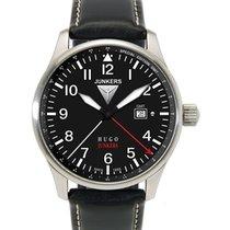 Junkers Hugo 6644-2 Quartz Gmt Watch Swiss Movement 50m Wr...