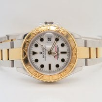 Rolex Yacht-Master 18k Gold Steel Lady 29mm Ref. 69623