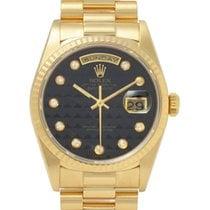 롤렉스 (Rolex) デイデイト 18238G YG ピラミッド 黒文字盤 W番 メンズ 自動巻き 003271445