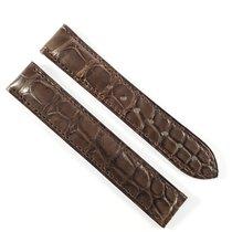Omega 17 / 16mm Alligator leather strap dark brown  98000134