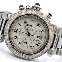 Cartier Pasha Chronograph Diamond Bezel Watch