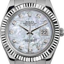 Rolex 41mm Datejust II Stainless Steel 116334 Custom Pearl...
