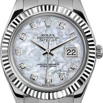 Rolex 41mm Datejust II Stainless Steel 116334 Custom Pearl...