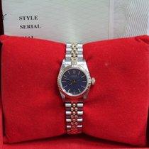 Rolex Ladies 67193 18K Yellow Gold & Steel Purple Dial