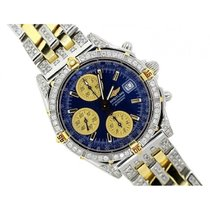 Breitling Chronomat Men's Blue Dial Stainless Steel Bracelet