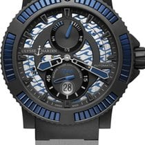Ulysse Nardin DIVER BLACK SEA Steel Bezel Black And Blue...