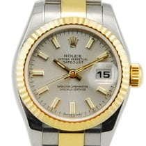 Rolex Lady-Datejust Two Tone 18kt Yellow Gold/SS - 179173