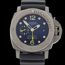 Panerai Luminor Submersible GMT Pole2Pole Titanium Gents...