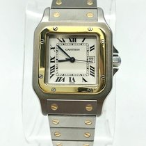 Cartier Santos 18k Yellow Gold & Stainless Steel Midsize Watch