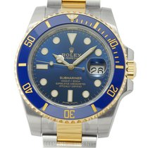 Rolex Submariner Stainless Steel / Yellow Gold Ceramic Bezel...