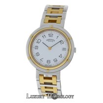 Hermès Unisex Clipper 18K Yellow Gold Stainless Steel Quartz 34MM