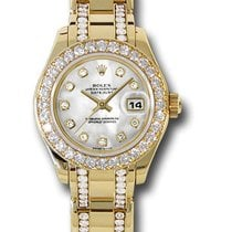 Rolex Datejust Lady Pearlmaster 18K Gold Masterpiece Diamonds
