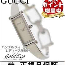 Gucci 【グッチ】 バングル クォーツ レディース腕時計【中古】 1500L ホワイト文字盤/シルバー ステンレス0329