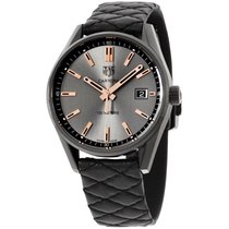 TAG Heuer Carrera Grey Dial Leather Strap Ladies Watch...