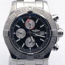 Breitling Super Avenger Black Dial A13371 On Bracelet With...
