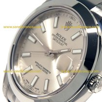 Rolex DATEJUST II SILVER DIAL WHIT INDEXES WHITE  116300