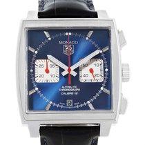 TAG Heuer Monaco Calibre 12 Blue Dial Chronograph Mens Watch...