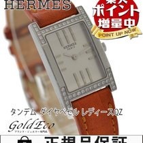Hermès 【エルメス】 タンデム ダイヤベゼル レディース腕時計【中古】 TA1.230 クォーツ SS/革ベルト...