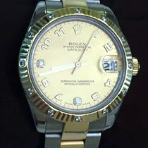Rolex Lady-Datejust Gold Steel Factory Bezel Diamond Dail 178313