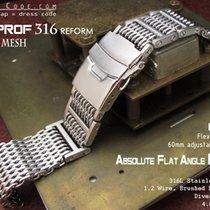 Strapcode 20mm Flexi 316 SS Milanese Mesh Band, Brushed