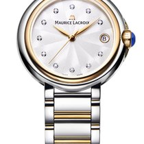 Maurice Lacroix Fiaba. 32, Diamond Index Pearl Dial, Gold...