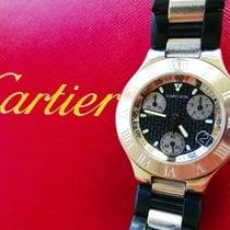 Cartier 21 Chronoscaph Eleganter Luxus Herren Chronograph 2424
