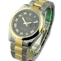 Rolex Unworn 116203_blk_roman Mens 2-Tone Datejust with Oyster...