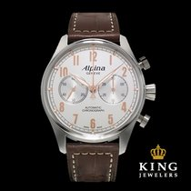 Alpina Startimer Classic Brown and Steel Chronograph