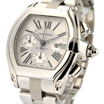 Cartier W62019X6 Roadster Chronograph in Steel - On Steel...