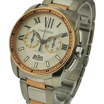 Cartier W7100042 Calibre de Cartier Chronograph in Steel with...