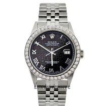 Rolex Datejust Midsize 36mm Black Dial Stainless Steel Bracelet