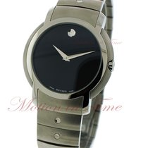 Movado S.L. Men's, Black Museum Dial - Stainless Steel on...