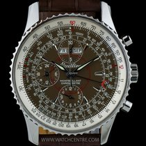 Breitling S/S Brown Dial Datora Montbrillant Gents Watch...
