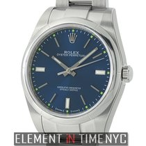 Rolex Oyster Perpetual 39mm No-Date Stainless Steel Blue Index...