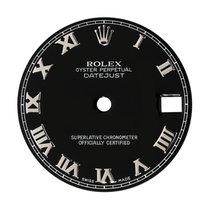 Rolex DateJust 31mm Black/Steel Roman Numeral Original Factory...