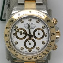 勞力士 (Rolex) 116523 Gold Steel Daytona White Diamond Dial Mixed...