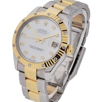 Rolex Unworn 178313 DateJust Two-Tone with Fluted Diamond...
