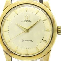 Omega Vintage Omega Seamaster Gold Plated Leather Automatic...